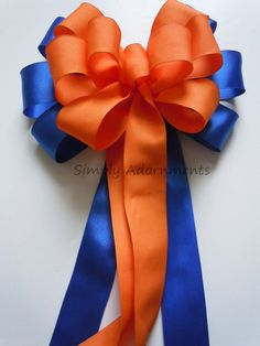 Blue Orange Party Decoration Royal Blue by SimplyAdornmentsss,