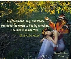 #Enlightenment #Joy & #Peace can never be given to YOᘮ by another The well…