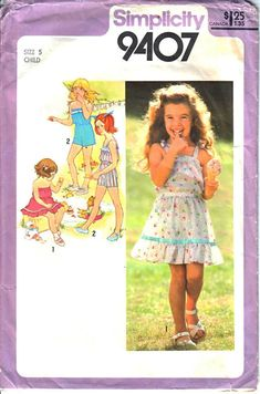 Simplicity 7150 Child/'s Dress Top Shorts and Bag   Sewing Pattern Capri Pants