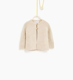 Buttoned cardigan with tab-SWEATERS AND CARDIGANS-Baby girl-Baby | 3 months - 3 years-KIDS | ZARA United States