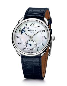 montre Hermès Arceau Petite Lune http://www.vogue.fr/joaillerie/shopping/diaporama/horlogerie-la-tete-dans-les-etoiles-montres-phases-de-lune/15752/image/872783#!horlogerie-la-tete-dans-les-etoiles-montre-hermes-arceau-petite-lune