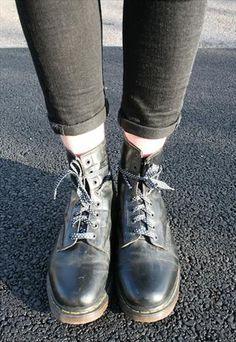 #Vintage #Black #Dr. #Martens 1461 8-hole #Boots