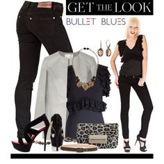 """Get The Look With Bullet Blues Chic Parisien Jeans and Elodie Top"" by bulletblues on Polyvore"