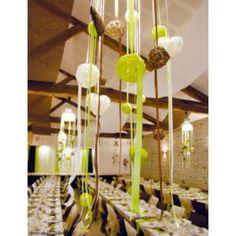 Boule en rotin vert anis, 4 boules en rotin vert anis 9 cm, décoration, mariage, baptême, déco de table, table festive, déco de noël, fêtes, déco d'intérieur. http://www.baiskadreams.com/370-boules-rotin-vert-anis-9-cm-les-4.html