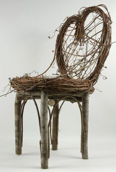26.99 SALE PRICE! Showcase your floral centerpieces or baskets on this rustic throne. The Branch Chair is composed of grapevine and dried branches, and has a...