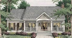 Simple Country Living - 62076V | Country, Narrow Lot, 1st Floor Master Suite, CAD Available, Carport, PDF, Corner Lot | Architectural Designs