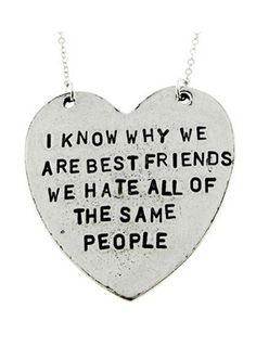 "Our ""I Know Why We Are Best Friends"" Heart-Shaped Necklace makes a perfect gift for any best friend!"
