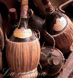 *Vintage bottles of Chianti