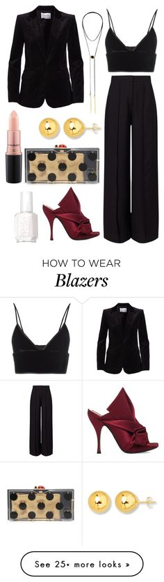 Untitled #3193 by fcharese on Polyvore featuring Charlotte Olympia, Frame, T By Alexander Wang, N°21, NAKAMOL, Miss Selfridge, MAC Cosmetics and Essie
