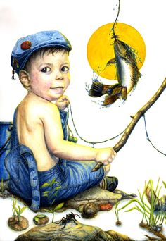 子どもの釣り(Fishing of the child)