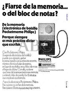 Pocketmemo Philips. Gispert. Año 1972.