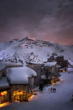 Trois Vallees Sunset, French Alps