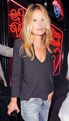 The Many Black Jackets of Kate Moss via @WhoWhatWearUK