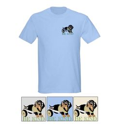 """""""BE KIND"""" Men's Tees - Traditional tees in 3  mix and match colors let guys remind others to """"Be Kind."""" $19.19 Please Repin, Like and Share these great shirts: http://www.cafepress.com/shopcritterkin.1205265351"""