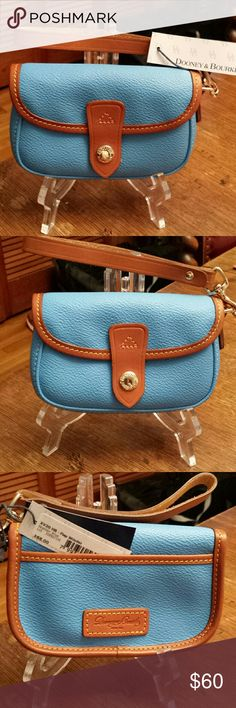 Dooney and Bourke NWT Heather Blue Flap Wristlet NWT Dooney and Bourke Heather Blue Flap Wristlet Dooney and Bourke  Bags Clutches & Wristlets
