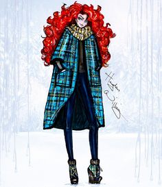 Disney Divas 'Holiday' collection by Hayden Williams: Merida| Be Inspirational ❥|Mz. Manerz: Being well dressed is a beautiful form of confidence, happiness & politeness