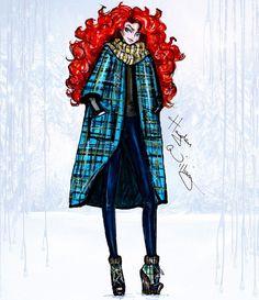 Disney Divas 'Holiday' collection by Hayden Williams: Merida