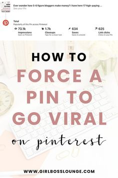 How to Force a Pin to go Viral. Marketing Digital, Content Marketing, Media Marketing, Marketing Strategies, Affiliate Marketing, Facebook Marketing, Online Marketing, Rich Pins, Online Shops