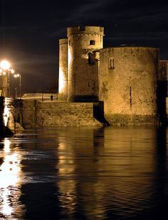 """King John's Castle  Limerick, Ireland. Saw excerpts from Shakespeare performed here...lit by mostly """"candles.""""  Effecive."""