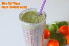 """Delicious Green Smoothie Recipe - made this morning and you can't taste the """"green"""""""