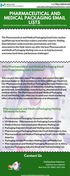 Get Accurate Emails To Reach Out Decision Makers Through Pharmaceutical And Medical Packaging Email Lists