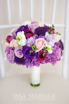 Spring Wedding Bouquets, Diy Wedding Flowers, Bride Bouquets, Bridal Flowers, Bridesmaid Bouquet, Purple Wedding, Floral Wedding, Table Flower Arrangements, Beautiful Flowers