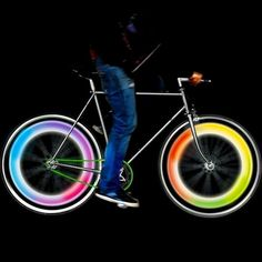 2Pcs Bike Cycling Bicycle Wheel Tire Valve Cap Spoke Neon 5 LED Lights Lamp Affr