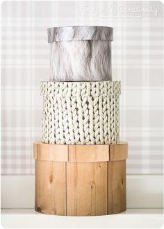 #DIY: natural looking boxes
