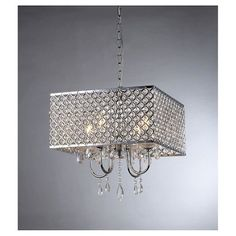 Warehouse Of Tiffany 22 X 22 X 34 Inch Silver Ceiling Lights