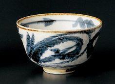 NAMI-KARAKUSA Jiki Japanese Porcelain Rice-Bowl for UDON,TERIYAKI-BOWL made in JAPAN Watou.asia