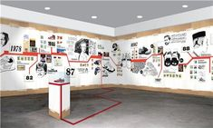 What a great way to bring life to a timeline! What a great way to bring life to a timeline! Museum Exhibition Design, Exhibition Display, Exhibition Space, Design Museum, Design Ppt, Design Case, Life Design, Design Ideas, Display Design