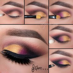 Mardi Gras look? Makeup Eye Looks, Eye Makeup Steps, Beautiful Eye Makeup, Cute Makeup, Skin Makeup, Eyeshadow Makeup, Eyeliner, Makeup Brushes, Beauty Makeup
