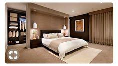 Wardrobe Behind Bed, Bed In Closet, Indian Bedroom Design, Loft Room, Bedroom Layouts, Luxurious Bedrooms, Room Colors, Home Decor Bedroom, Home Remodeling