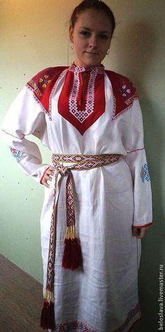 РУБАХА ЖЕНСКАЯ - рубаха женская,рубаха в славянском стиле,русская одежда