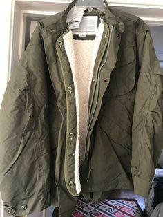 Men/'s Lined Hooded Army Basic Line Bomber Jacket Fleece Zip Up Coat S~XL