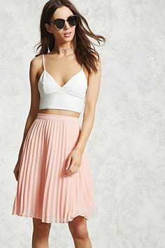 Forever 21 is the authority on fashion & the go-to retailer for the latest trends, styles & the hottest deals. Shop dresses, tops, tees, leggings & more! Chiffon Skirt, Midi Skirt, Pleated Skirts, Leggings, Skirt Fashion, Latest Trends, Forever 21, My Style, Tees