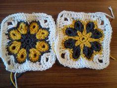 Kezdő horgolóknak: 8 szirmú virág képpel, leírással | Türkiz Műhely Blanket, Crochet, Amigurumi, Creative, Ganchillo, Blankets, Cover, Crocheting, Comforters