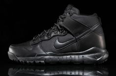the best attitude 92384 57816 Nike has just released a new Triple Black and a Military Brown colorways of  the Nike SB Dunk High Boot.