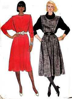80s Cowl Neck Batwing Dress Pattern by allthepreciousthings, $9.00