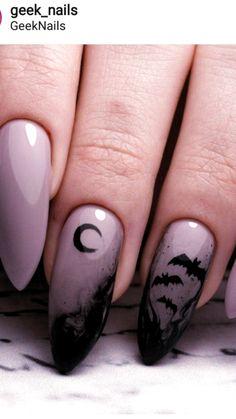 Ongles Gel Halloween, Halloween Nail Designs, Halloween Nail Art, Costume Halloween, Scary Halloween, Halloween City, Purple Halloween, Halloween Ideas, Halloween Coffin