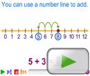 Quick video on using a number line to add (strategy)