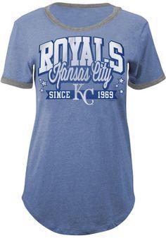 Kansas City Royals Womens Blue Tri-Blend T-Shirt