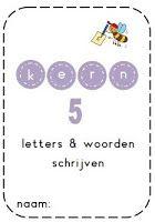 Juf Shanna: Kern 4, 5 & 6 - Schrijven van de woorden Spelling, Worksheets, Classroom, School, Writing, Reading, Kids, Children, Class Room