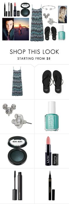 """""""London boardwalk with Harry"""" by sarahorantomlinson ❤ liked on Polyvore featuring M&Co, Abercrombie & Fitch, Disney, Essie, NYX, Witchery, Napoleon Perdis and Bling Jewelry"""
