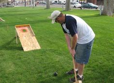 Home made yard games, good for summer get togethers!