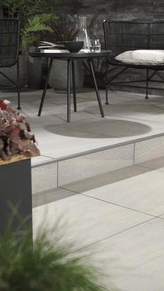 Everscape™ Sandstone Grey Outdoor Tile x Patio Slabs, Patio Tiles, Patio Flooring, Outdoor Tile Over Concrete, Concrete Paver Patio, Outside Flooring, Patio Stone, Outdoor Paving, Garden Paving