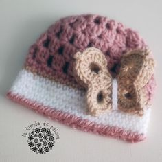 Crochet baby girl hat - Butterfly hat - Made to order. $20.00, via Etsy.