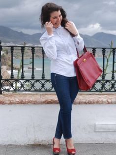 Outfit Zapatos Rojos On Pinterest | Zapatos Red Flats And Red Ballet Flats