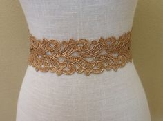 Gold Venice Laces Sash by Crystalsandlaces on Etsy, $78.00