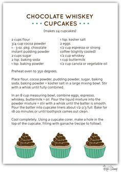 Chocolate Whiskey Cupcakes Recipe | Red Stamp